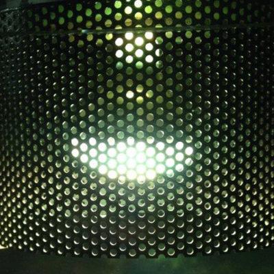 Tôles perforées luminaire